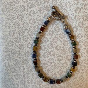 Multi-Color Cubed Gem Bracelet